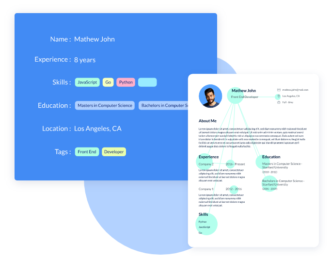 AI and Machine Learning based Resume Parser